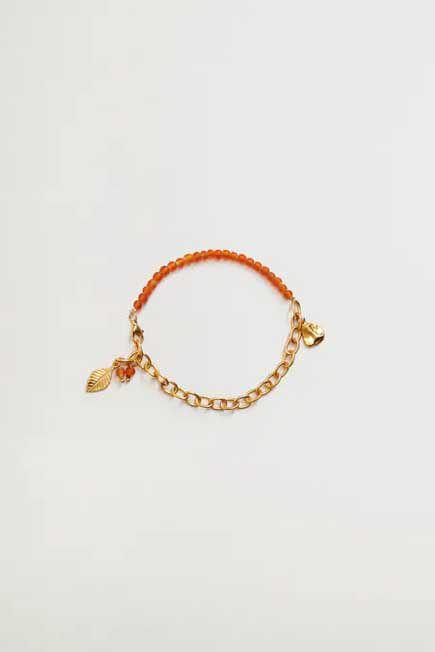 Mango - Gold Mixed Bead Bracelet, Women