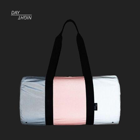 HERSCHEL SUPPLY CO. - Herschel T/C Reflective Day/Night Duffle Duffle Bag Reflective Black/Hot Coral/Pine Bark