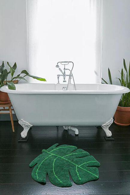 Urban Outfitters - Green Monstera Bath Mat
