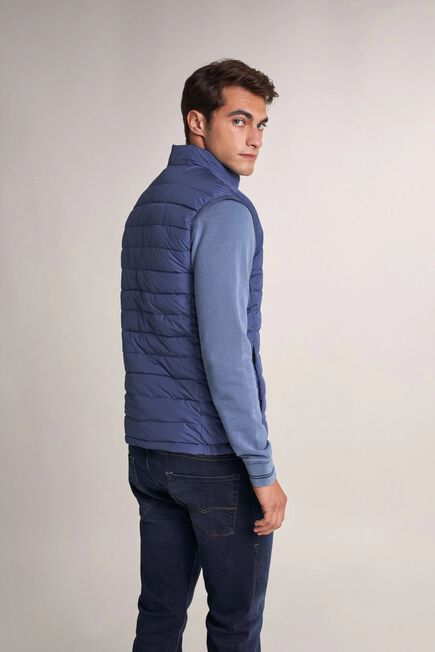 Salsa Jeans - Blue Thermolite reversible puffer waistcoat