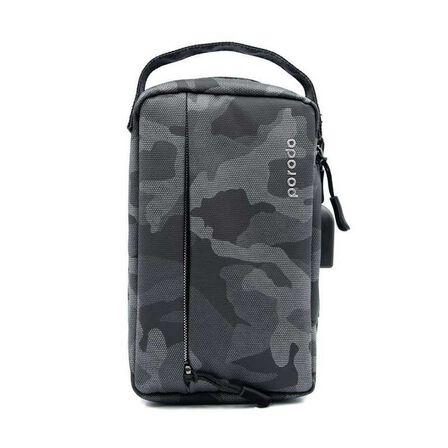 PORODO - Porodo Convenient Leather Storage Bag 8.2 Inch Black Camo