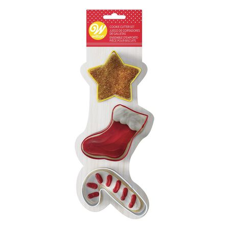 WILTON BRANDS INC. - Wilton Xmas Cookie Cutters Star Stocking and Candy Cane