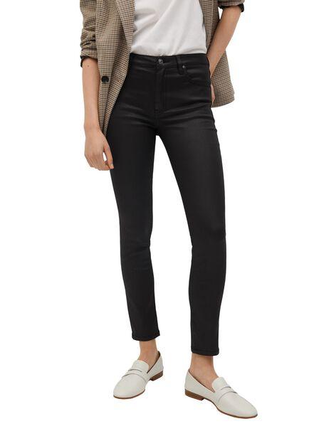 Mango - Black Coated Isa Crop Skinny Jeans