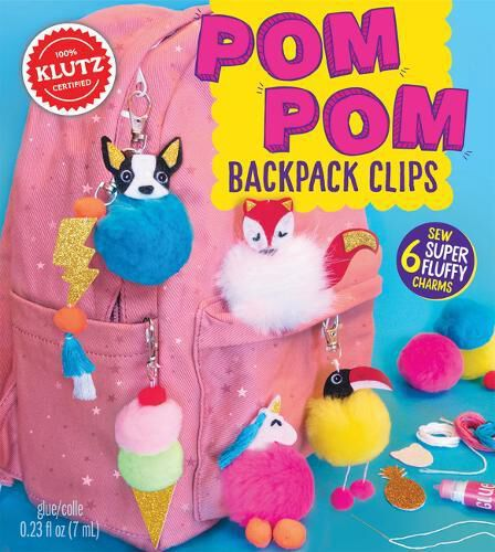 SCHOLASTIC USA - Pom-Pom Backpack Clips