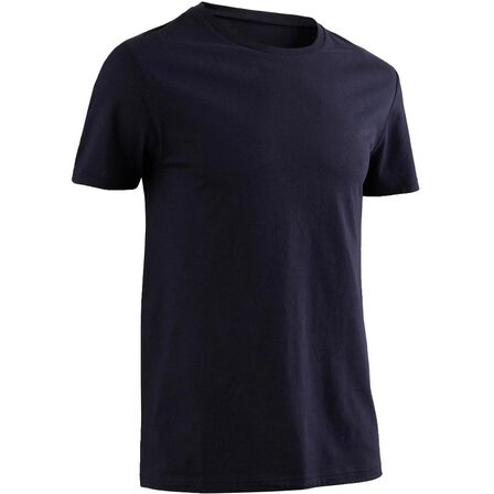 NYAMBA - Small  Fitness Pure Cotton T-Shirt Sportee, Asphalt Blue