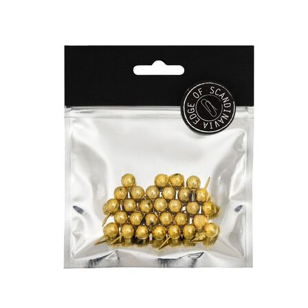 BNT STATIONERY - BNT 20mm Edge Pins Gold [30 Pack]