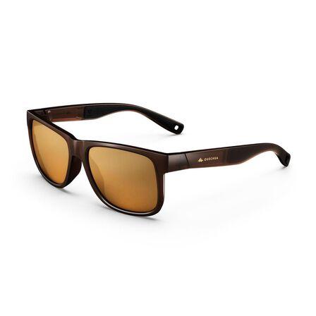 QUECHUA - Adult Category 3 Hiking Sunglasses Mh140 - Ebony
