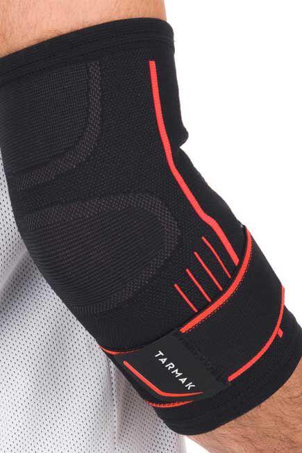 TARMAK - Mid 500 Unisex elbow support - black, 2