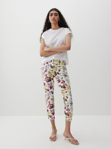 Reserved - Patterned cigarette trousers - Multicolor