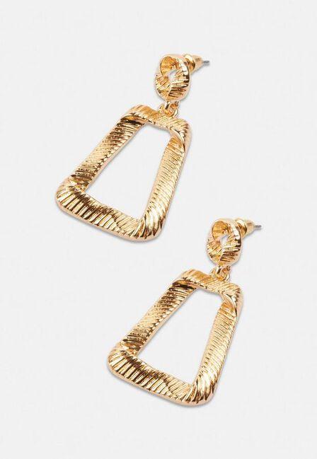 Missguided - Gold Gold Look Molten Door Knocker Earrings