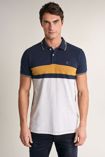 Salsa Jeans - Blue Regular fit polo shirt with stripes