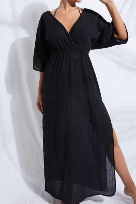 Calzedonia - BLACK Criss-Cross Neck Dress