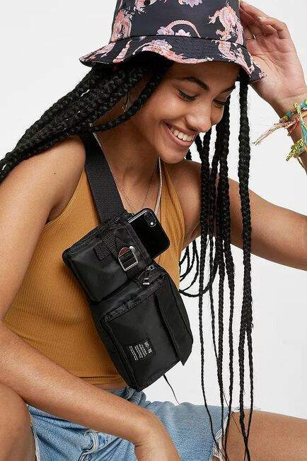 Urban Outfitters - Black UO Utility Bum Bag