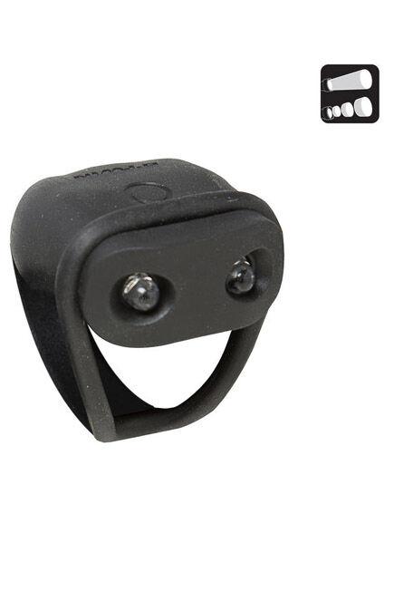 ELOPS - Unique Size  VIOO 100 Front LED Battery-Powe Bike Light, Black