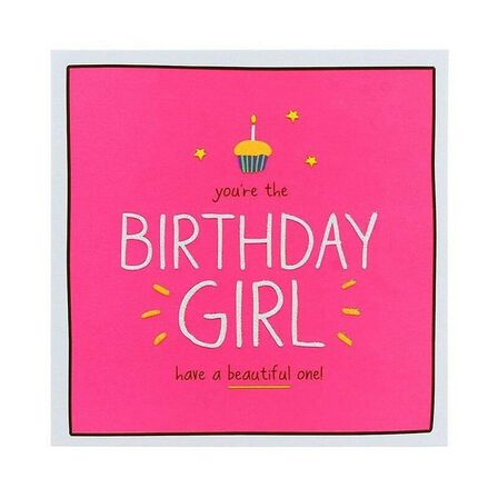 PIGMENT PRODUCTIONS - Happy Jackson Birthday Girl Beautiful One Greeting Card160X156
