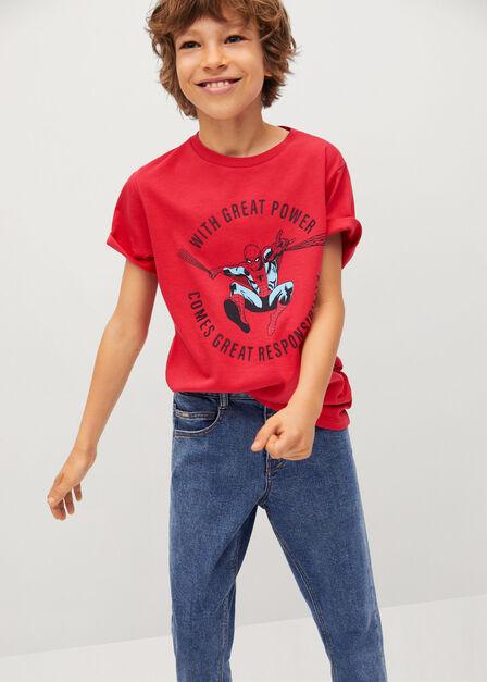 Mango - Red Spider-Man T-Shirt, Kids Boy