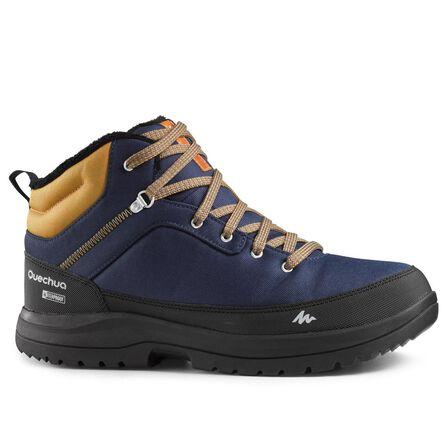 QUECHUA - Sh100 men's warm mid blue snow hiking boots., EU 47