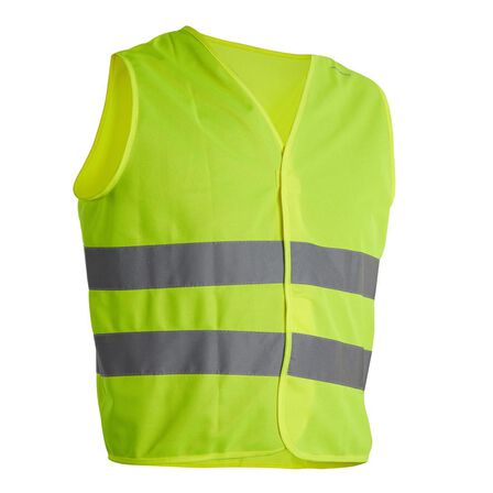 BTWIN - Kids  Junior Hi-Vis Cycling Gilet - EN1150 Yellow, Fluo Yellow