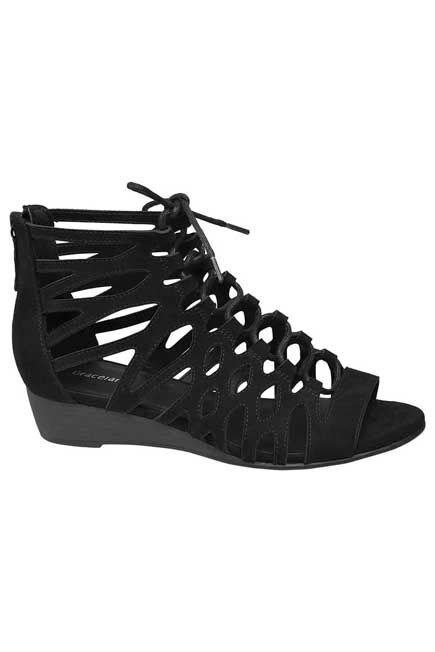 Graceland - Black Strappy High Sandals, Women
