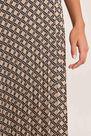 Salsa Jeans - Beige Medium pleated skirt with print