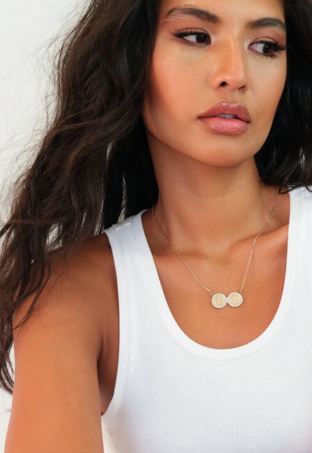 Missguided - Double Filigree Coin Pendant