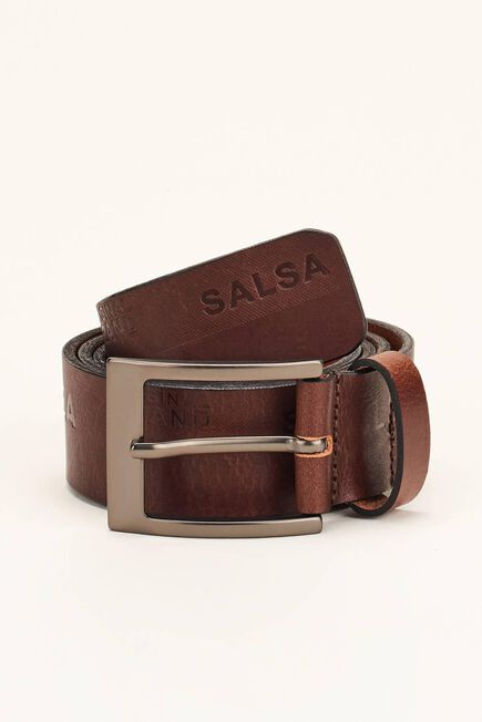 Salsa Jeans - Brown Leather belt with logo