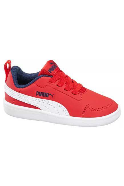 Puma - Red Courtflex Sneakers, Kids