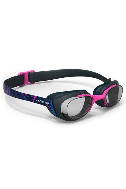 NABAIJI - 100 XBASE PRINT Swimming Goggles, Size L - OPI Blue Pink, Adult