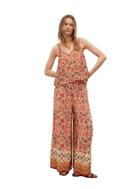 Mango - orange Elastic waist trousers, Women