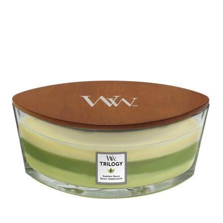 WOOD WICK - Woodwick Candle Trilogy Ellipse Jar Garden Oasis