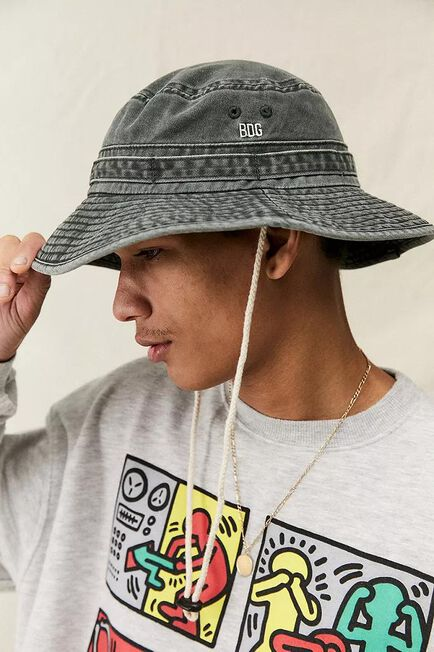 Urban Outfitters - Grey BDG Overdye Canvas Boonie Hat
