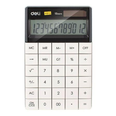 DELI - Deli Calculator Plastic 12 Digits White