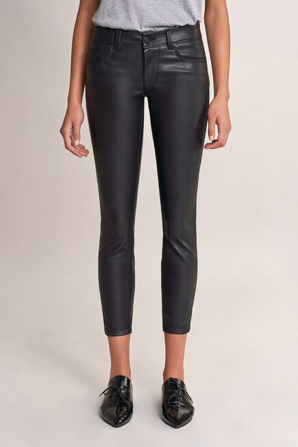 Salsa Jeans - Black Push Up Wonder cropped trousers in nappa