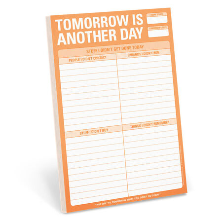 KNOCK KNOCK - Knock Knock Pads Tomorrow Is Another Day Notepad