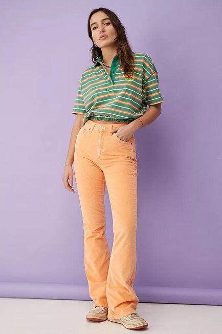 Urban Outfitters - Orange BDG Tangerine Corduroy High-Waist Flare Jeans