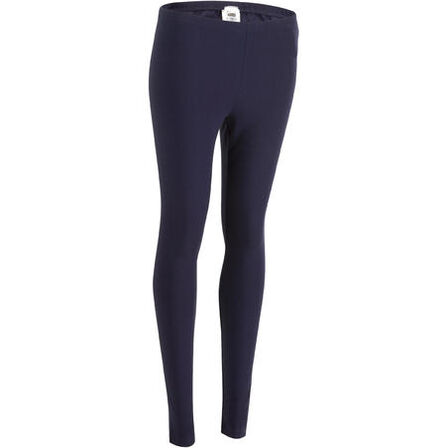 DOMYOS - Salto 100 women's slim-fit stretching leggings - navy blue