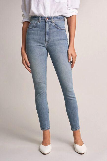 Salsa Jeans - Blue Elegant cropped jeans with vintage wash