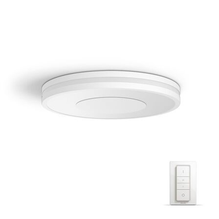 PHILIPS - Philips Hue White Ambiance Being 40W Connect Ready LED Ceiling Lamp White