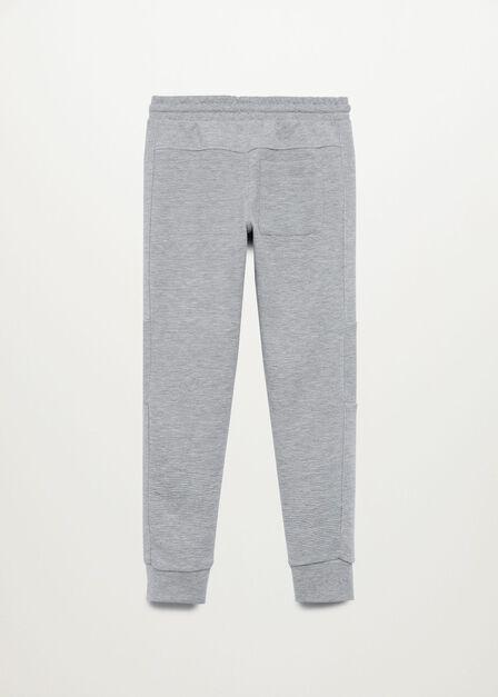 Mango - medium grey Cotton jogger-style trousers