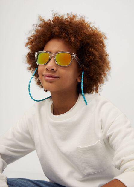 Mango - Grey Clear Frame Sunglasses, Kids Boy