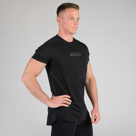 DOMYOS - S Weight Training Chest Day T-Shirt - Black