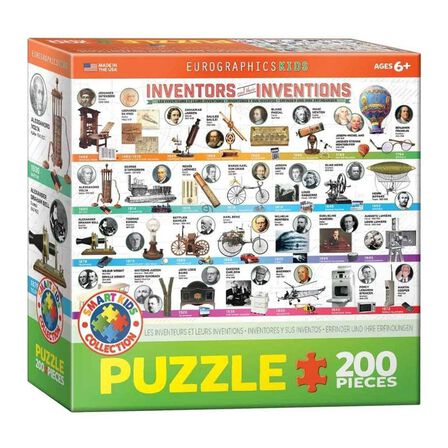 EUROGRAPHICS - Eurographics Inventors and Their Inventions Kids Puzzle [200 Pieces]