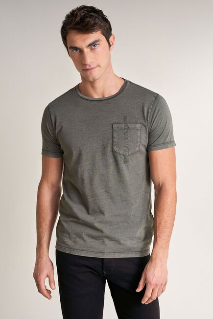 Salsa Jeans - Green T-shirt with plant dye and pocket