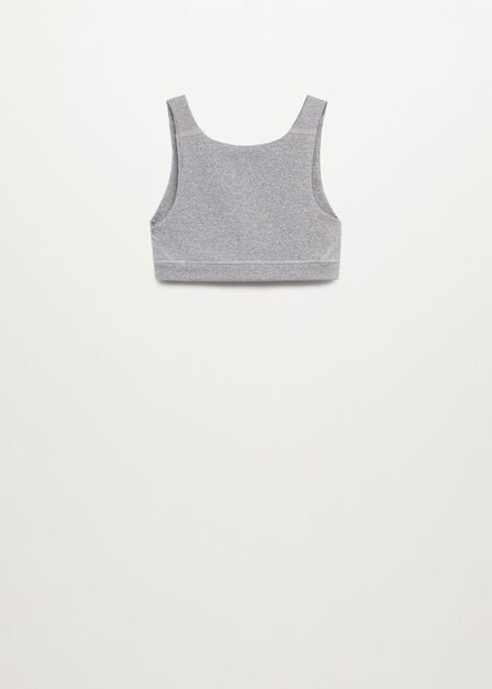 Mango - medium grey Sporty crop top