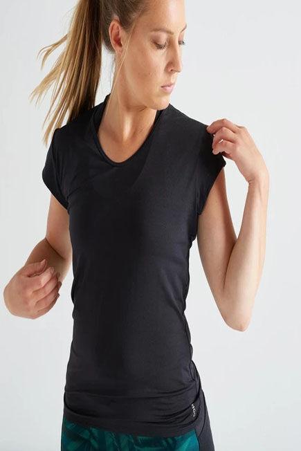 DOMYOS - Small  Slim Fitness T-Shirt, Black