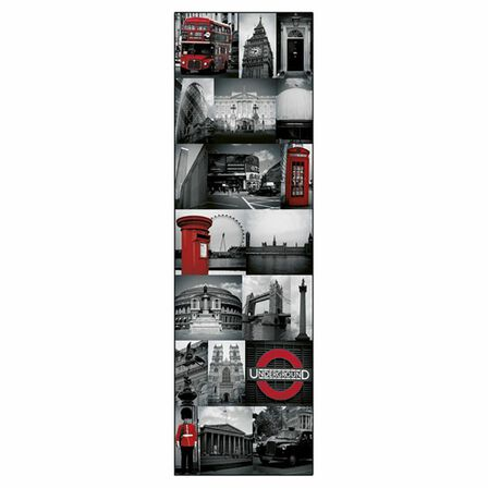 PYRAMID POSTERS - London Collage Poster 30.5 x 91.5cm
