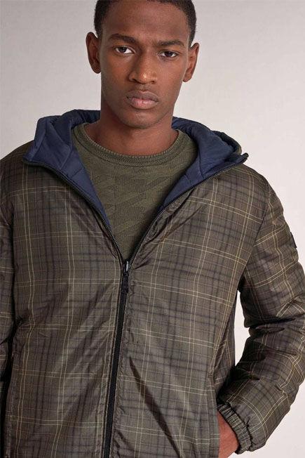 Salsa Jeans - Green Waterproof reversible short jacket
