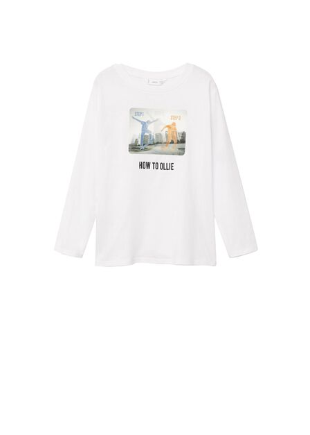 Mango - natural white Long-sleeved t-shirt with hologram
