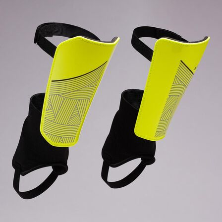 KIPSTA - Small  Kids' Football Shin Pads F140. /., Fluo Yellow
