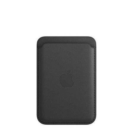 APPLE - Apple Leather Wallet Black with MagSafe for iPhone